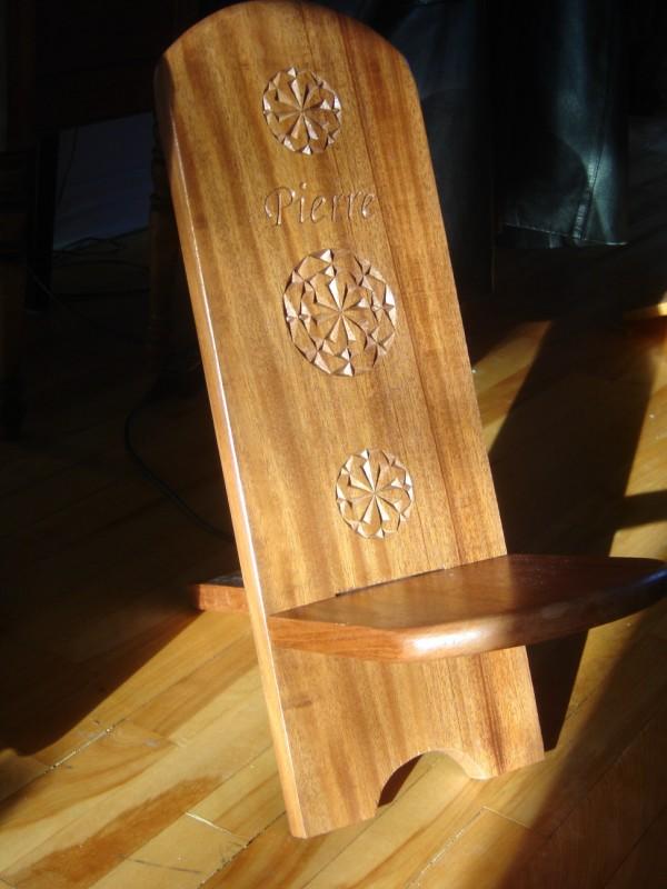 Arno et le bois les chaises for Plan de chaise en bois
